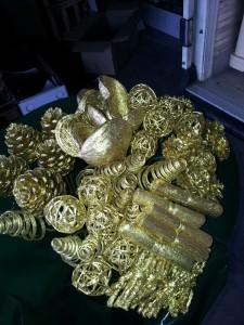 Bouquet Glitter Dourado